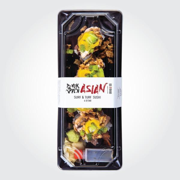 Surf and Turf sushi - 4 bitar - Reykjavík Asian