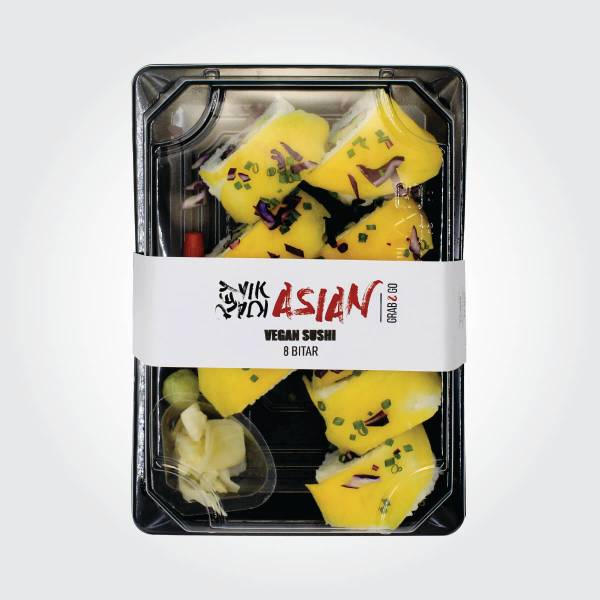 Vegan sushi - 8 bitar - Reykjavík Asian