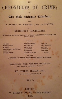 Late Victorian Edition of The Newgate Calendar