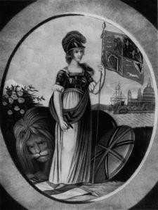 18th-Century Print of Britannia