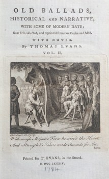 Thomas Evans' Old Ballads, Historical and Narrative (1784)