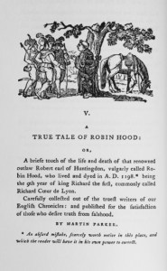 Thomas Bewick's Illustration to A True Tale of Robin Hood