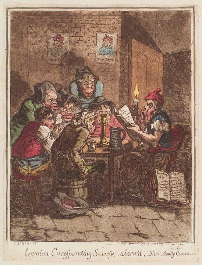 NPG D12634; 'London Corresponding Society, alarm'd' by James Gillray, published by  Hannah Humphrey