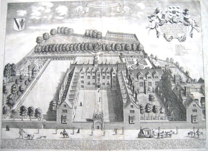 Sidney_Sussex_College,_Cambridge_by_Loggan_1690_-_sid_loggan1b