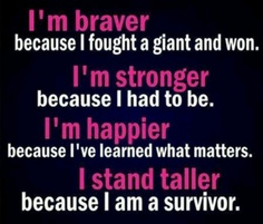 breast cancer survivor saying