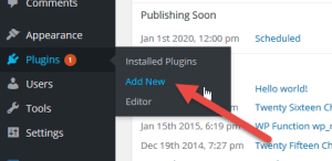 WordPress Plugin Menu