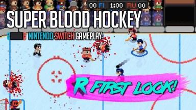 Super Blood Hockey - First Look - Nintendo Switch Gameplay