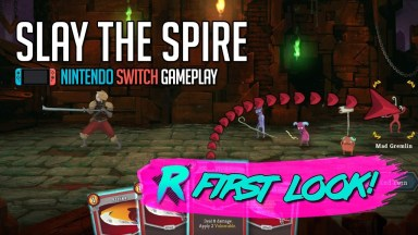 Slay the Spire - First Look - Nintendo Switch Gameplay - The Ironclad Boss Defeated