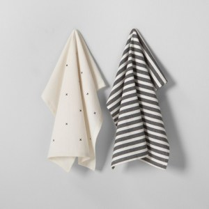 Hearth & Hand with Magnolia Kitchen Towel Set (2pk) - Black/Cream