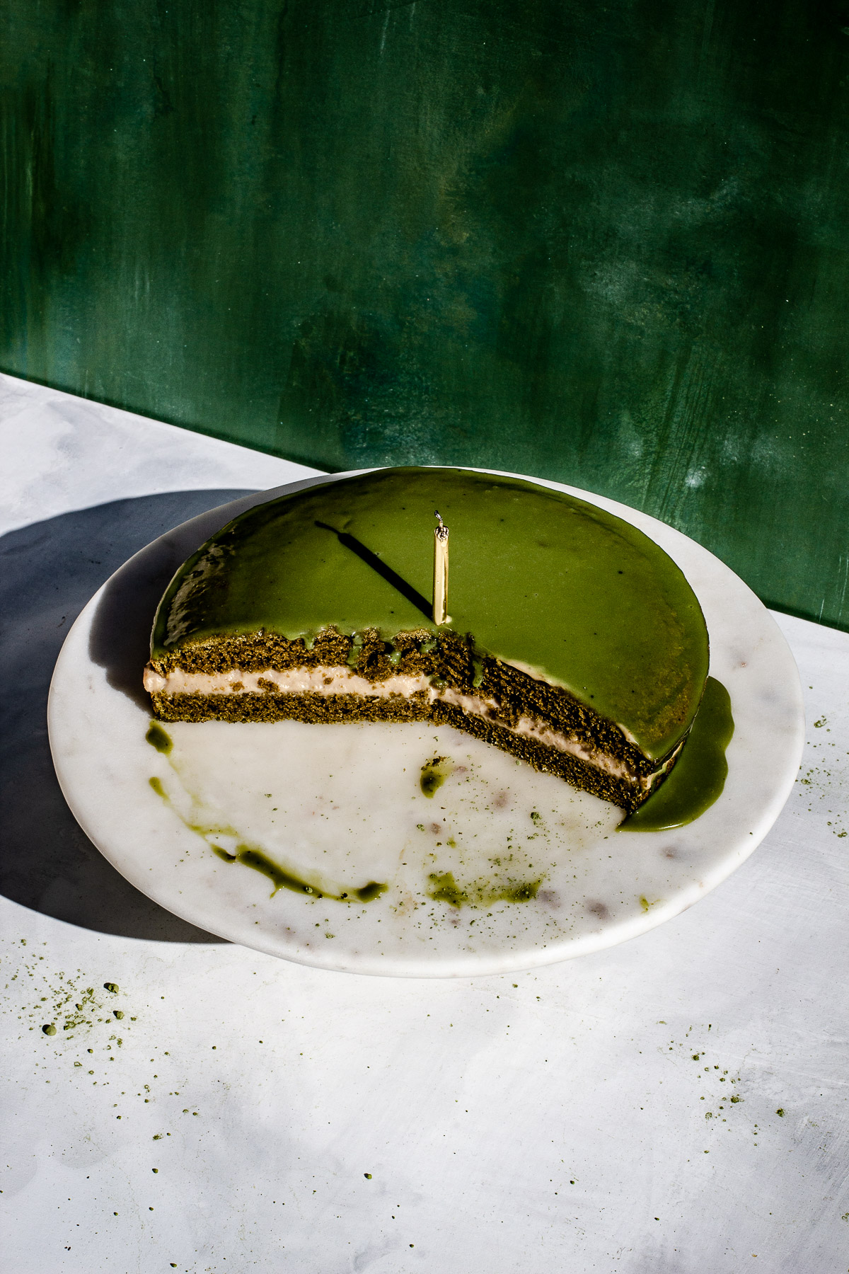Matcha Boston Cream Pie Recipe