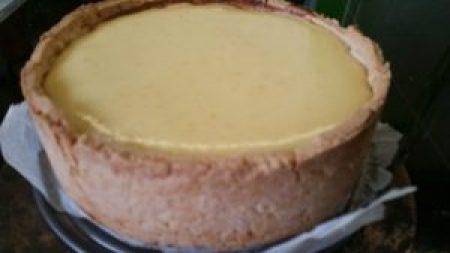 Ricotta Kuchen frisch aus dem Backofen