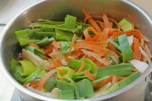 Zutaten für eine Gemüsebrühe
