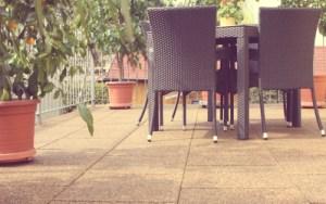 Резиновая плитка для террасы