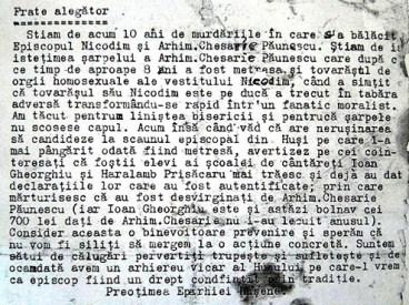 Scrisoarea preoților din Huși (anul 1924) despre apucăturile homosexuale ale episcopului Nicodim Munteanu, ales ulterior Patriarh al B.O.R.!