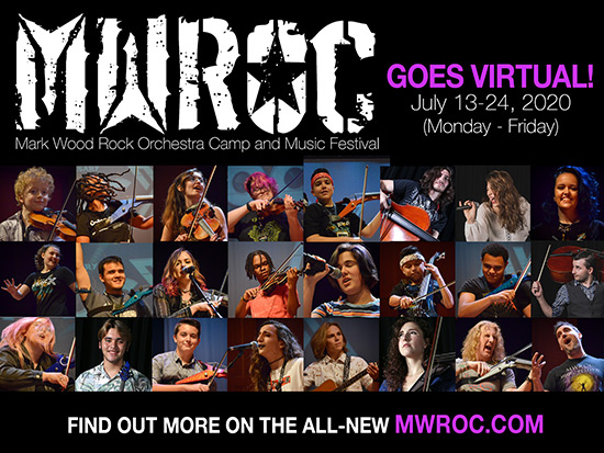 Mark Wood Rock Orchestra Camp and Music Festival Goes Virtual with SUPERSTAR Guest Artists!