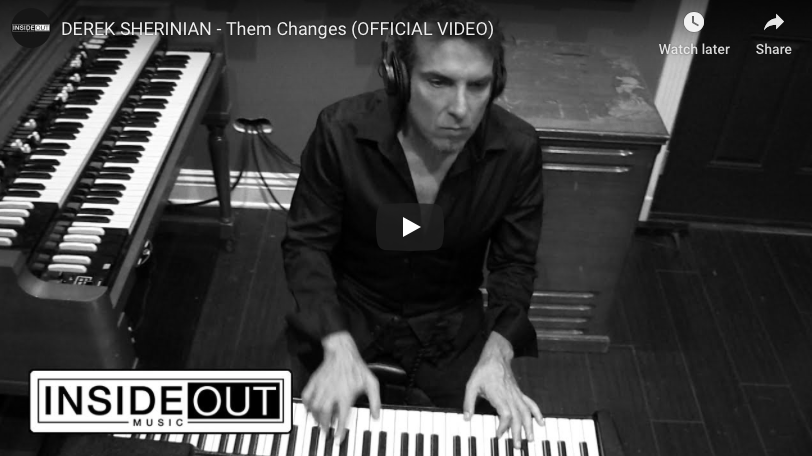 "Derek Sherinian launches video for a cover of Buddy Miles classic ""Them Changes"", featuring Joe Bonamassa"