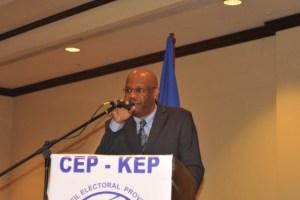 Pierre Louis Opont, président du CEP