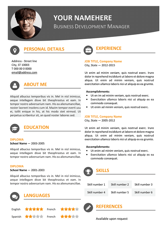Microsoft Word Resume Templates 1 0 - DeVry University