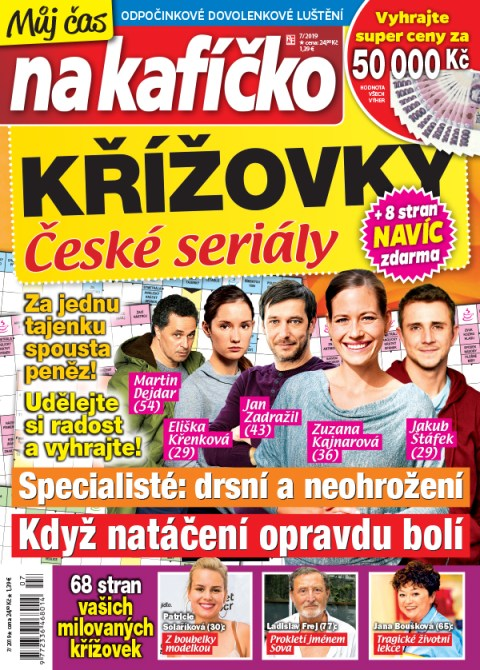 Aktuální číslo časopisu Křížovky České seriály – Můj čas na kafíčko
