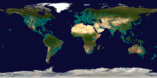 Global Locations of Site Visitors since 9 October 2017