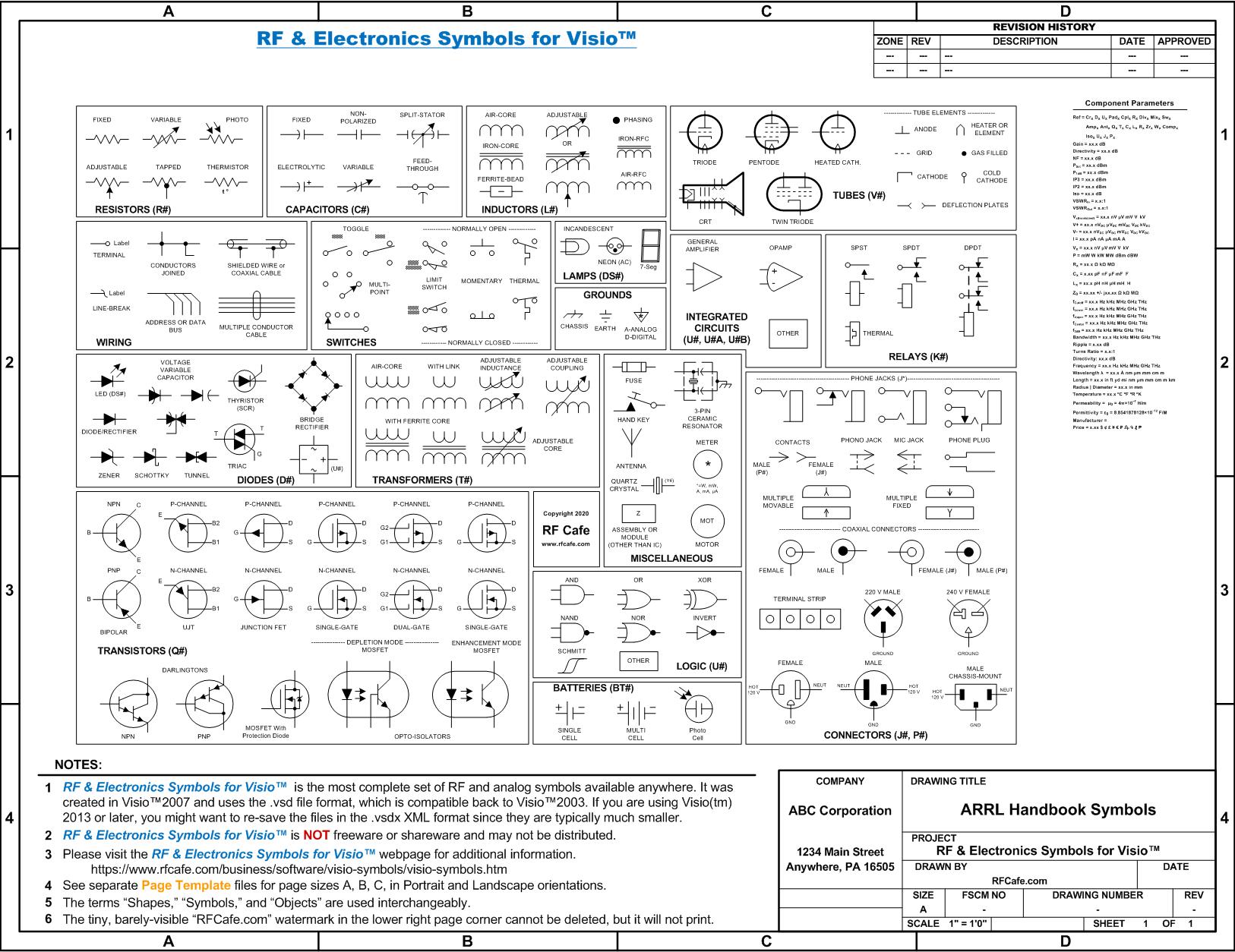 Rf Amp Electronics Schematic Amp Block Diagram Symbols For