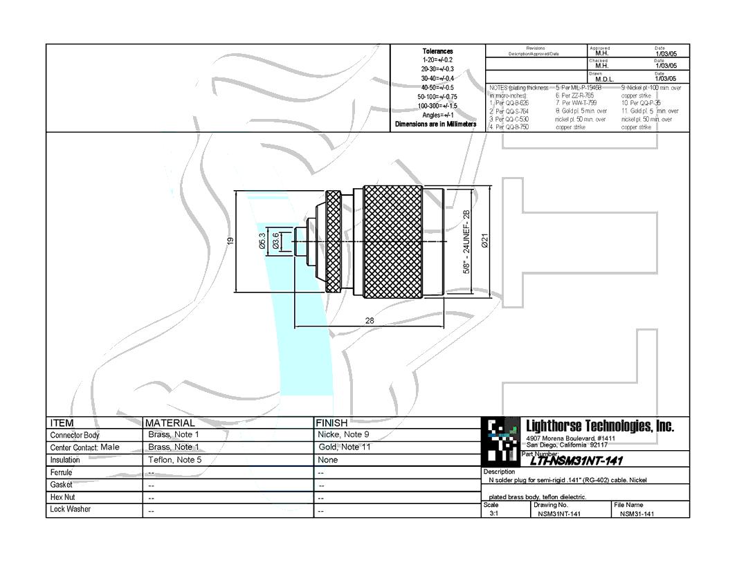 Straight Solder Plug Connector