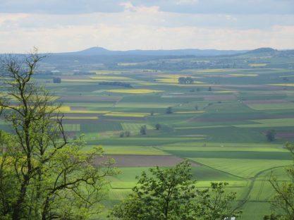 Blick von Amöneburg aus zum Frauenberg (rechts)