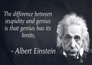 alberteinstein quote stupidity vs genius