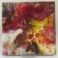 acrylic pouring on canvas