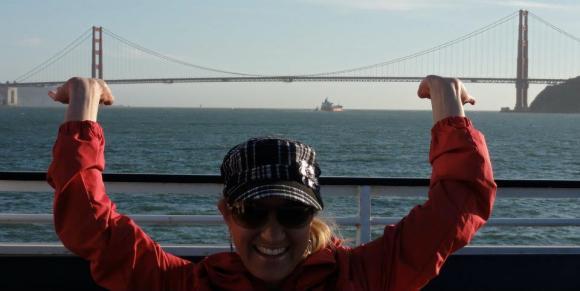 Holding a Bridge in San Francisco