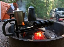 morning coffee in montana camp