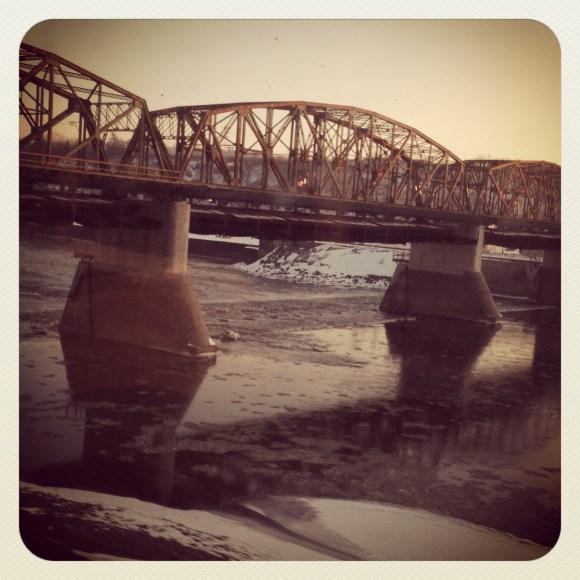 Bridges seen from Amtrak