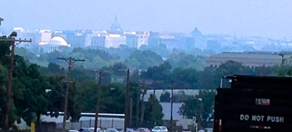 View of the capital from the top of my hill