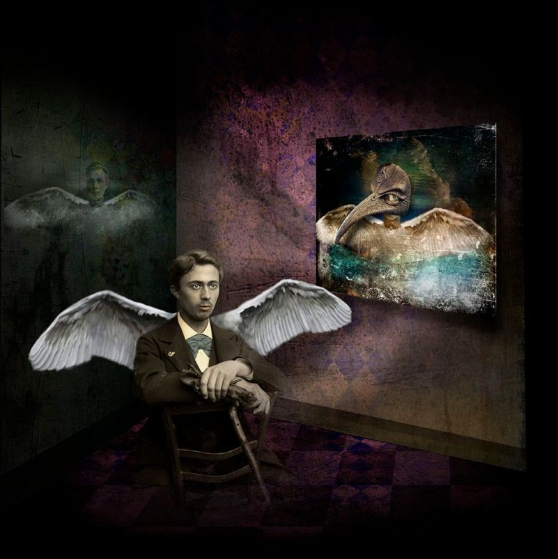 Winged Man in Room © Fran Forman