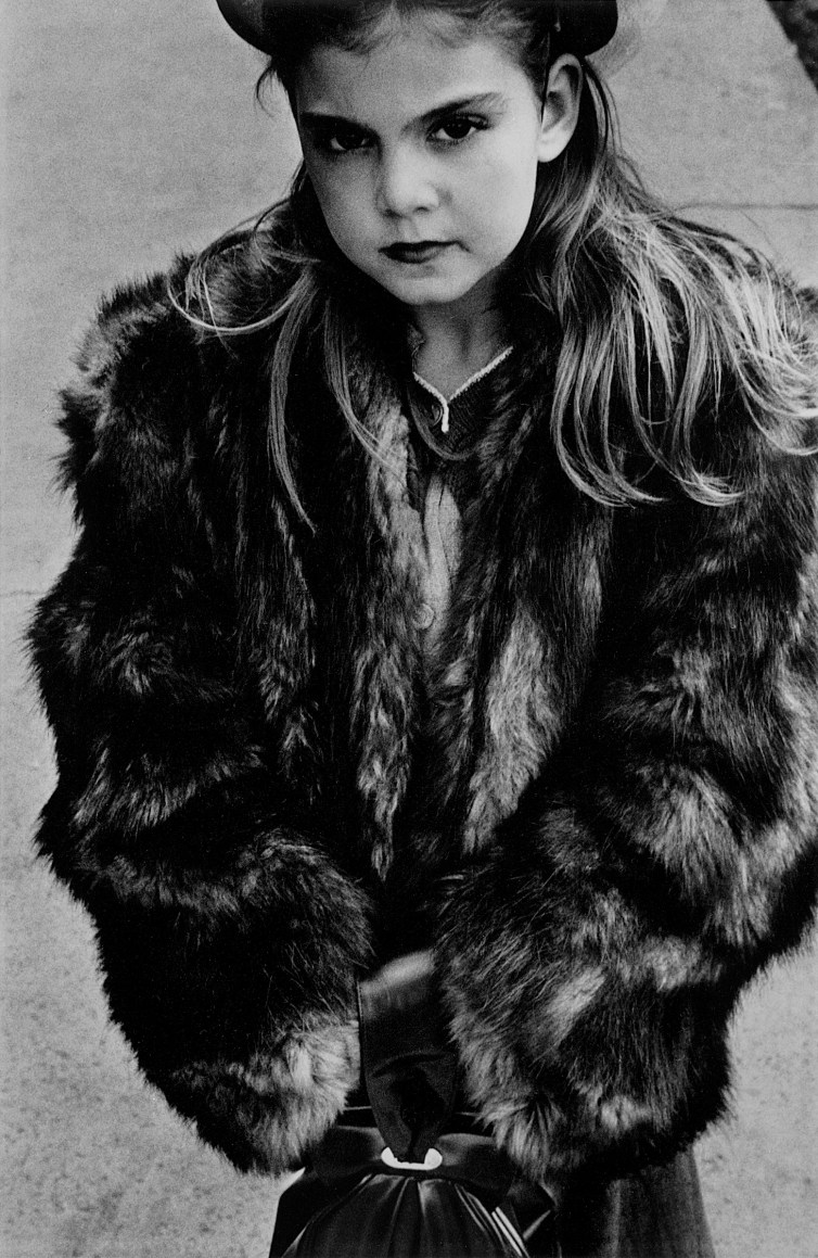 Young Girl in Fur Coat © Harold Feinstein