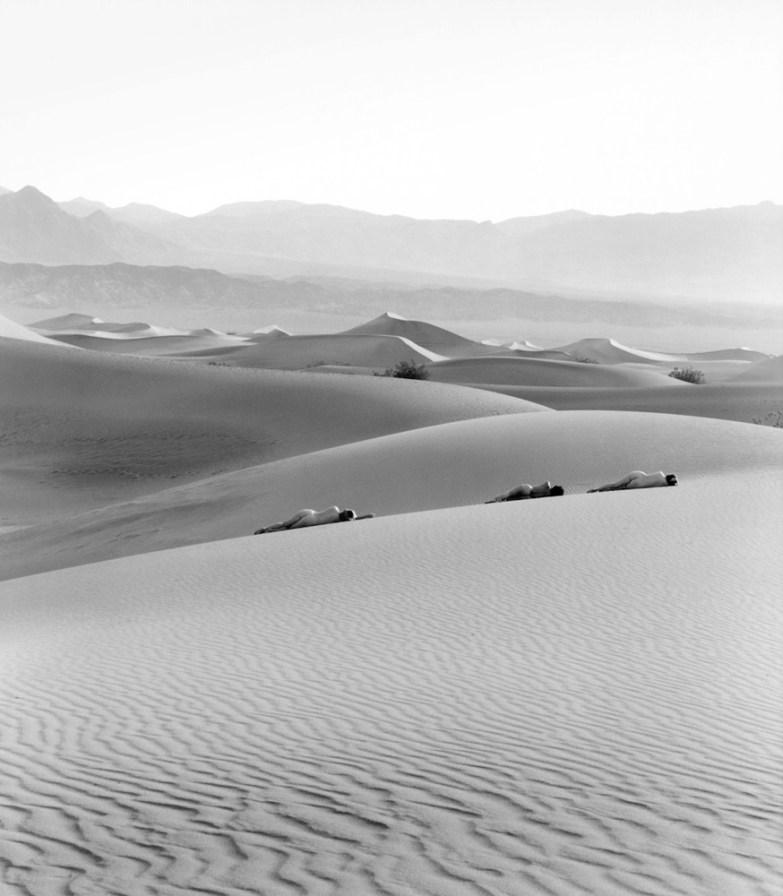 Three Nudes on Dunes, 1990,Edna Bullock Family Photography, LLC