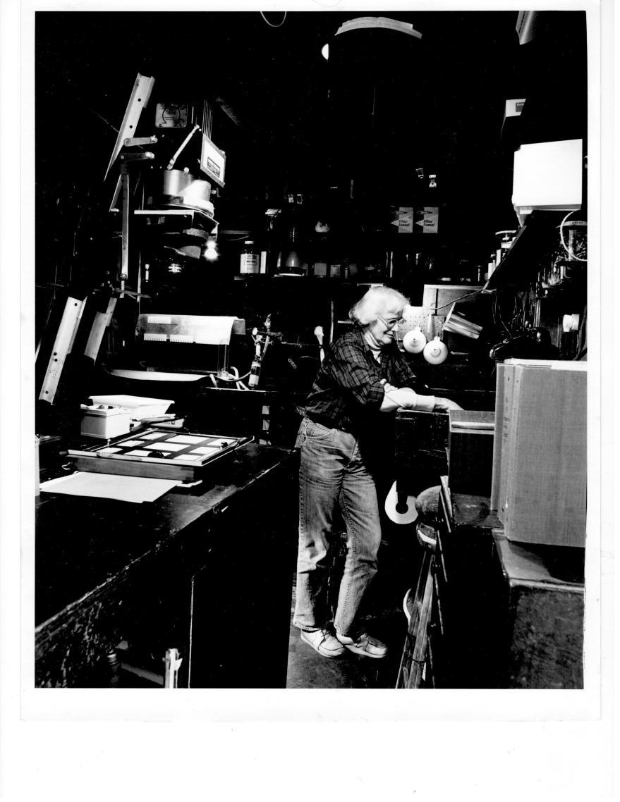 Edna in Darkroom © Kurt Fishback (1980)