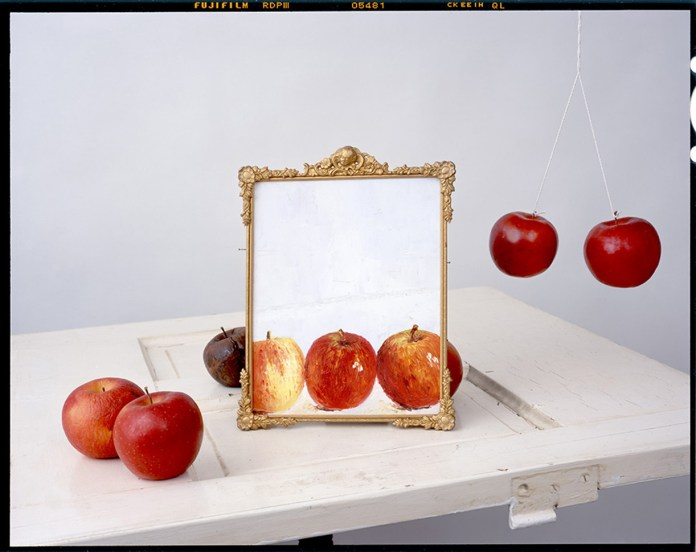 Apples, Painting on Door © John Chervinsky