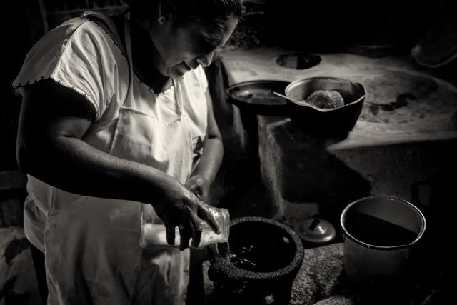 Catalina Lopez Molcajete la Mixteca © Judith Haden