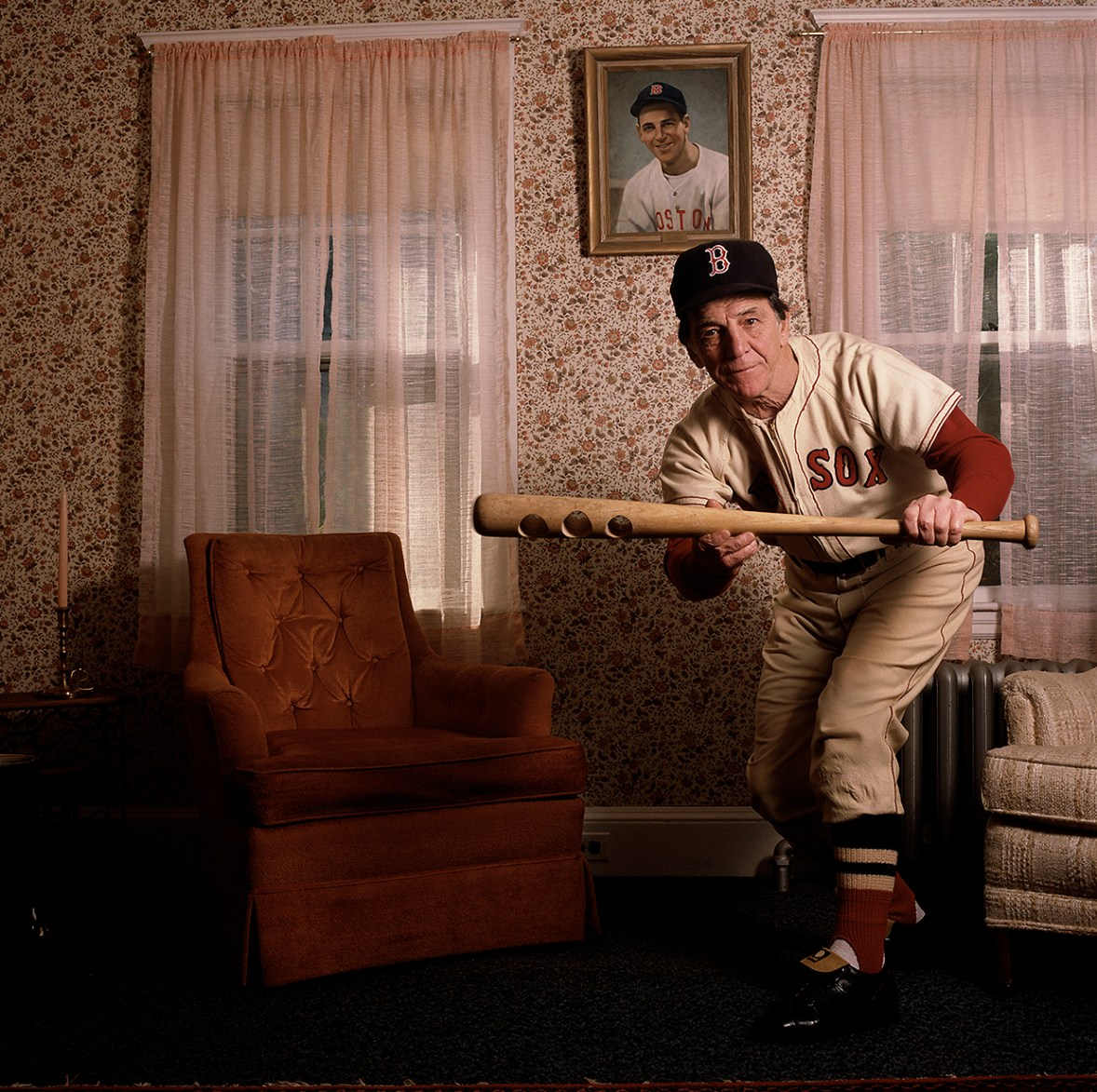 Eddie Pelligrini, Baseball Player for Boston Red Sox © William Coupon