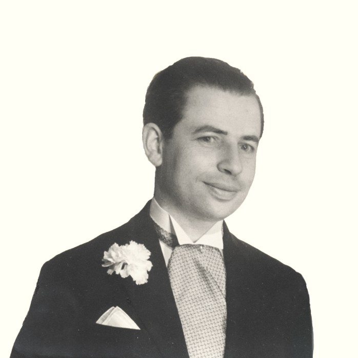 Fredy Cohen on his wedding day. 1947/ Evy Cohen