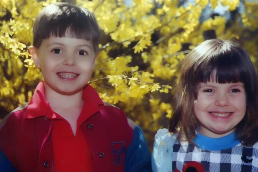 Niko & Rayne in north Arkansas - 2000