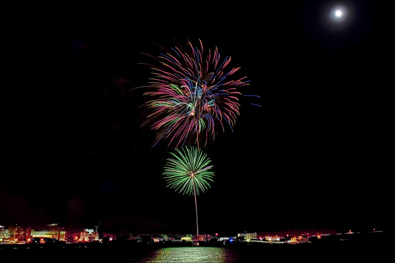 Fireworks over Baton Rouge
