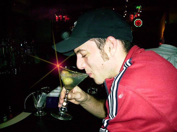 Brandon Sips the Killer Martini