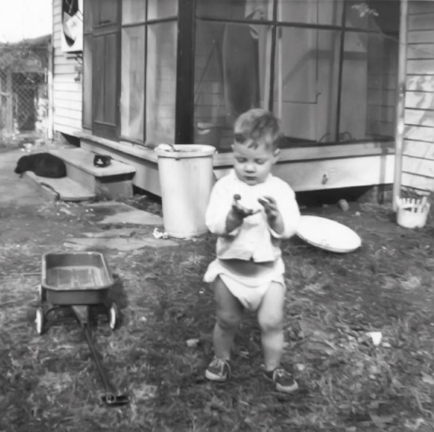 Me in the Backyard Long, Long Ago