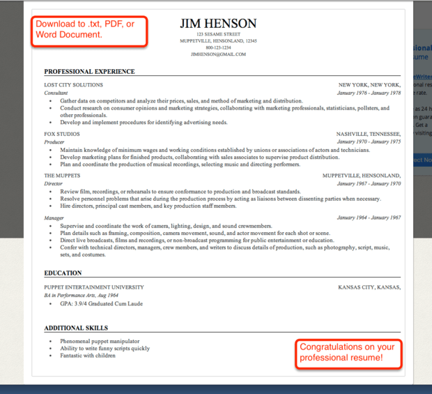 professional help with resume resume builder help template top