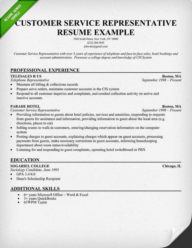 resume examples of customer service representative how to write sample resume customer service representative