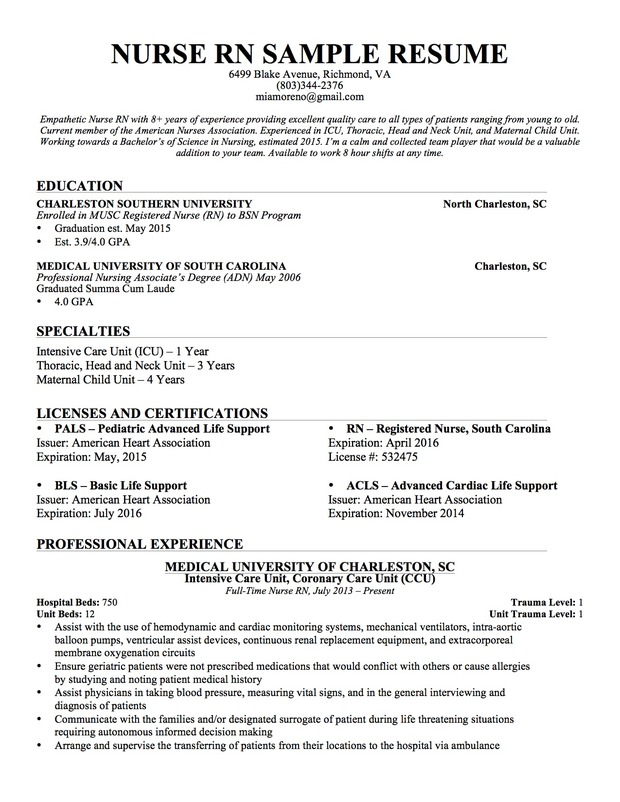 rn objective statement sample objective resume for nursing