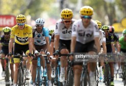 on stage nineteen of the 2017 Tour de France, a 222.5km stage from Embrun to Salon-de-Provence on July 21, 2017 in Salon-de-Provence, France.
