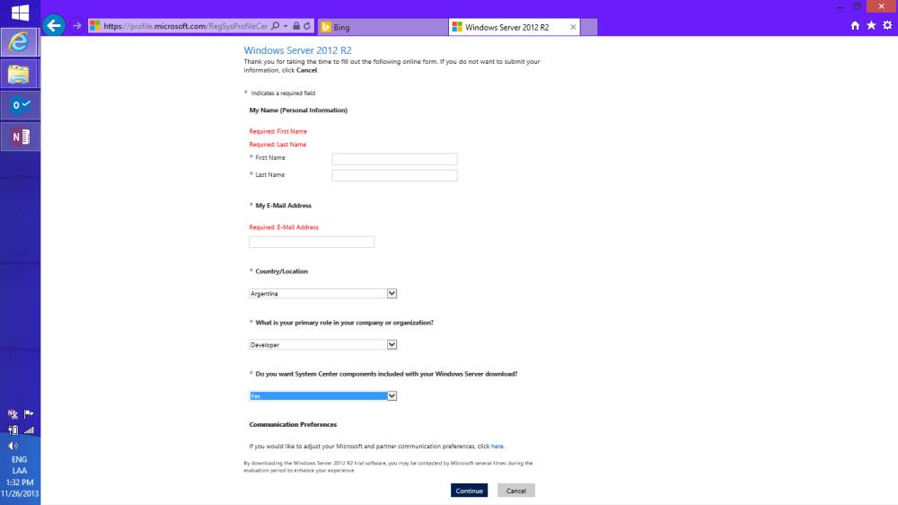 Descargando Windows Server 2012 R2 + SC [ISO] (4/6)